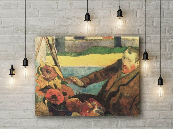 Paul Gauguin: Van Gogh Painting Sunflowers. Fine Art Canvas.